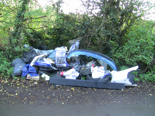 Removal man dumped rubbish in lane