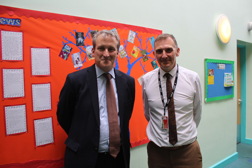 EDUCATION Secretary Damian Hinds was in for a treat when he made his 100th school visit since taking on the role.