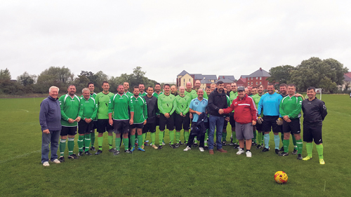 Big crowd braves the rain for official opening of Lyde Green Sports Ground