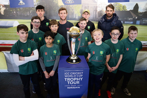 HUNDREDS of people came to see the Cricket World Cup trophy visit one of the sport's most historic grounds – the home of Downend Cricket Club.